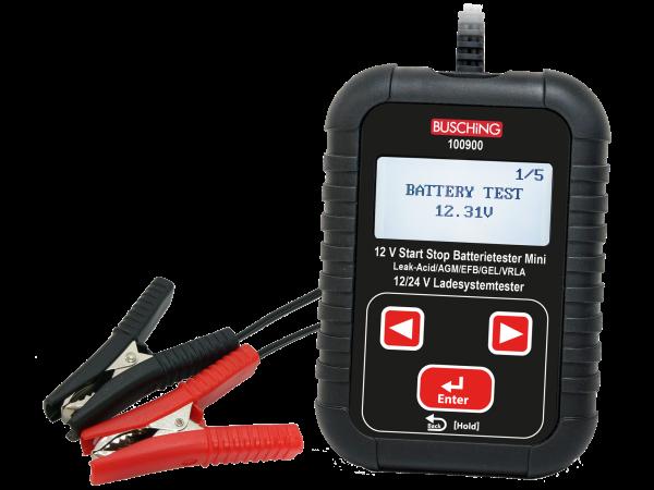 "Batterie- und Ladesystemtester ""Mini"", 12 V / 24 V, auch Start-Stopp-Systeme"