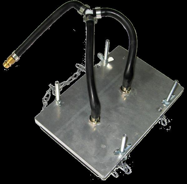 Bremsplattenadapter, P2, 180 x 120 mm