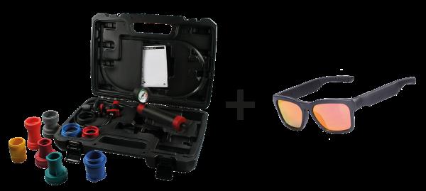 Kühlerdruckprüfgerät-Bundle, mit Sound-Sonnenbrille