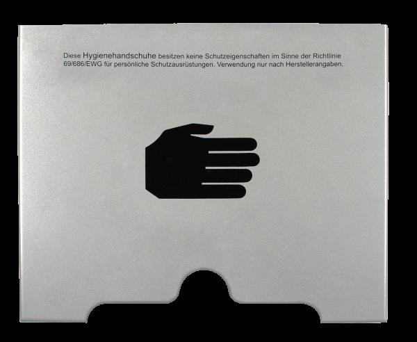 Handschuhspender, Entnahme unten