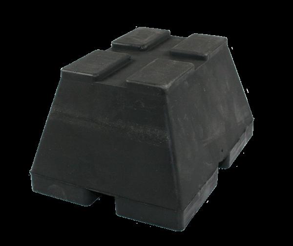 Trapez-Gummiblock, 160 x 120 x 90 mm, universal