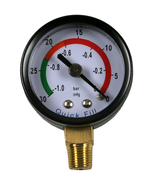 Quick Fill Manometer, -1 bar