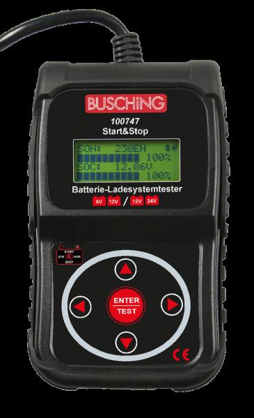 Batterietester und Ladesystemtester, Start-Stopp, 6 / 12 V