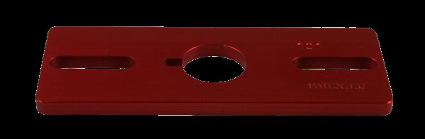 Vario Adaperplatte Eloxal, rot