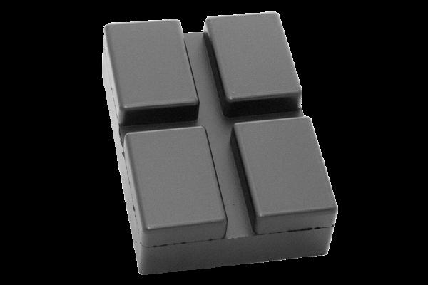 Gummiblock, 128 x 89 x 9 mm, für Rotary-Hebebühnen