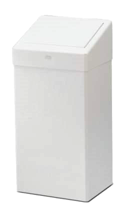 Abfallbox Metall mit Klappdeckel