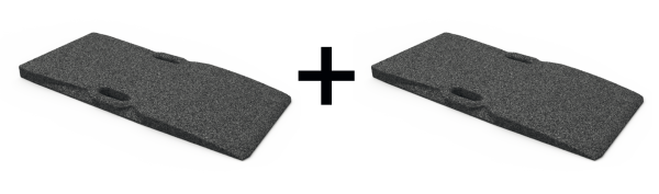 Gummi-Auffahrtsrampen-Satz, für Hebebühnen, 1000 x 480 x 50 mm, universal, 2 Stück