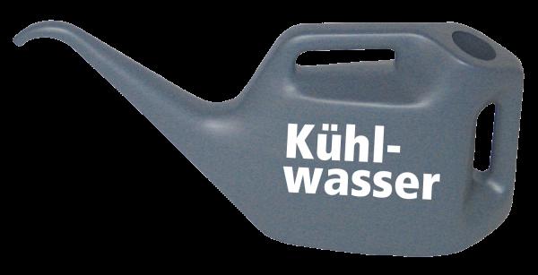 Kühlwasserkanne mit Kühlwasser-Logo, blaugrau, 10 l