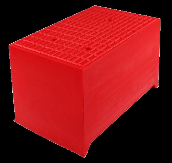 "Trapez-Gummiblock ""Redline"", 230 x 140 x 135 mm, universal"