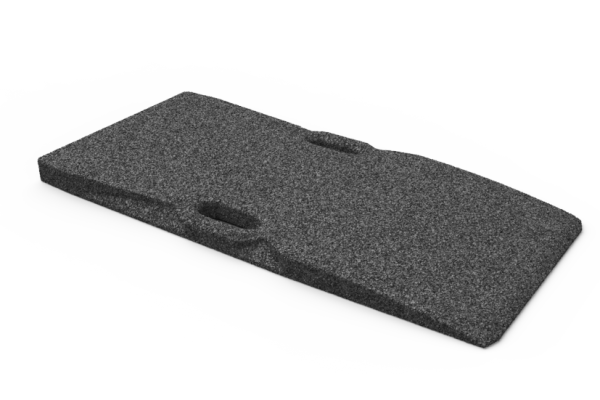 Gummi-Auffahrtsrampe, für Hebebühnen, 1000 x 480 x 50 mm, universal