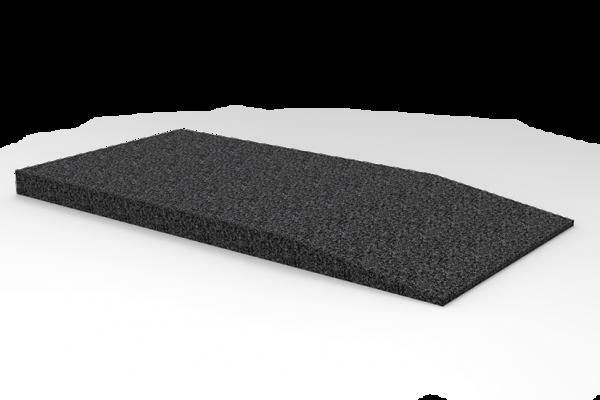 Gummi-Auffahrtsrampe, 1000 x 500 x 50 mm, für Hebebühnen, universal