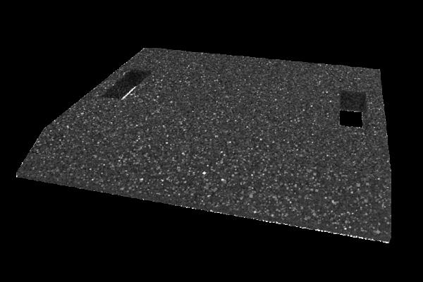 Gummi-Auffahrtsrampe, 500 x 500 x 40 mm, für Hebebühnen, universal
