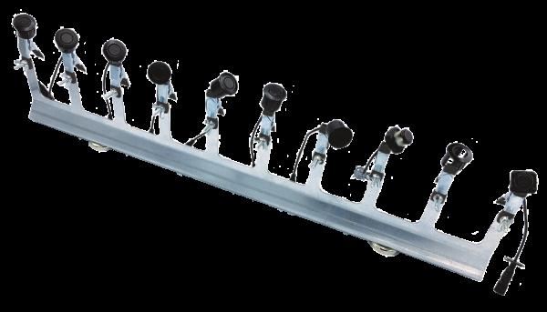 Cliphalter mit 10 Halterzangen, magnetisch