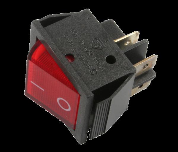 Taster 15 A / 250 V AC – 20 A / 125 V AC, 30 x 24 mm
