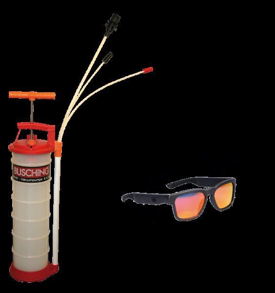 Vakuumpumpe und Sound-Sonnenbrille