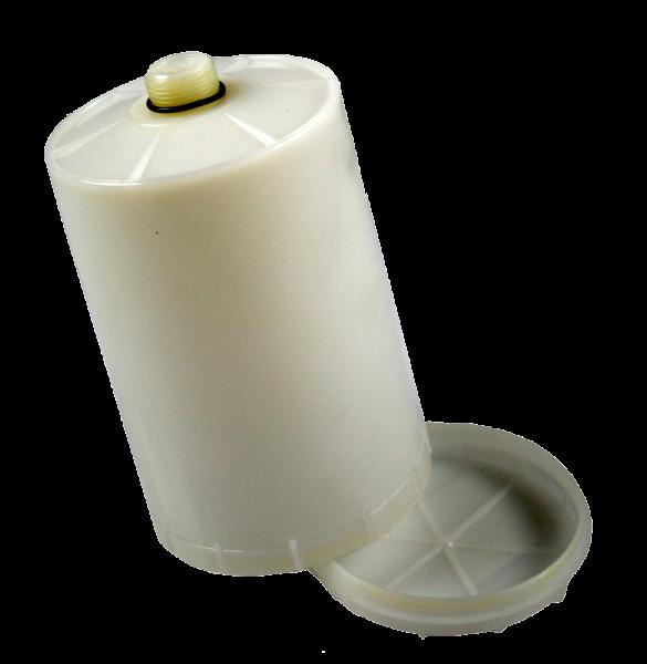 Behälter aus PVC mit Deckel und Filter