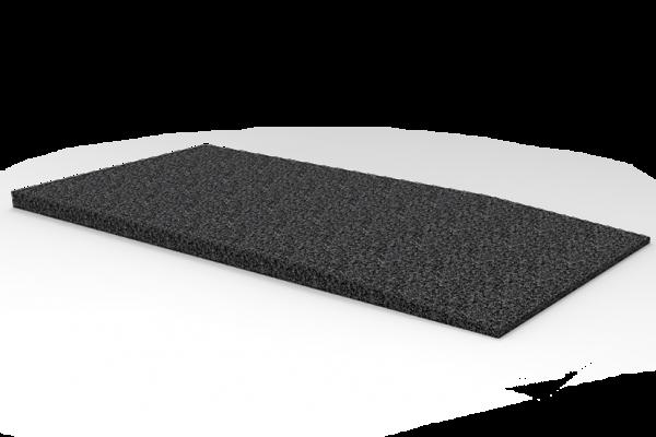 Gummi-Auffahrtsrampe, 1000 x 500 x 30 mm, für Hebebühnen, universal