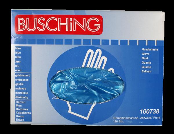 """Einmalhandschuhe """"Allzweck"""", blau, Entnahmeöffnung mittig"""