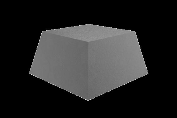 Trapez-Gummiblock, für Hebebühnen, 135 x 100 x 70 mm