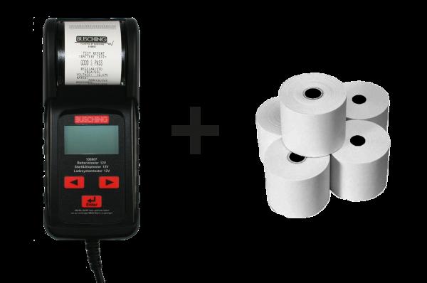 Batterietester und Ladesystemtester mit Ersatz-Thermorollen