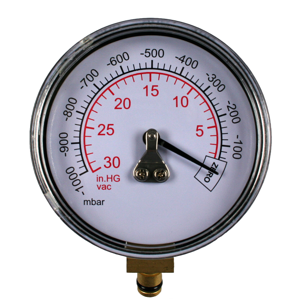 MITYVAC Manometer, -1 bar