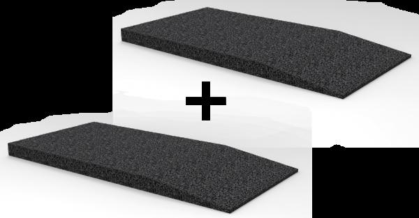 Gummi-Auffahrtsrampen-Satz, 1000 x 500 x 50 mm, für Hebebühnen, universal