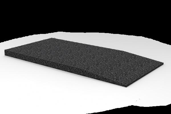 Gummi-Auffahrtsrampe, 1000 x 500 x 40 mm, für Hebebühnen, universal